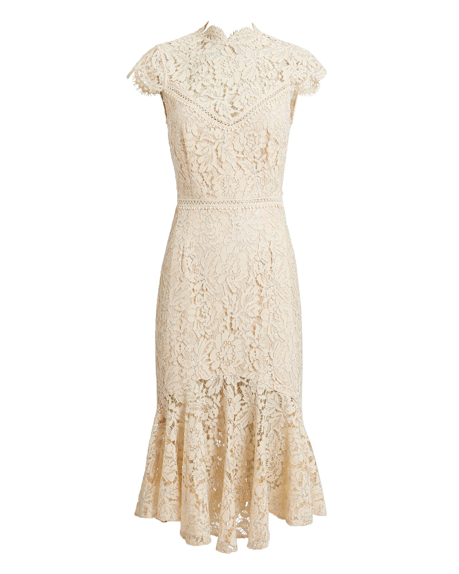 Iva Lace Dress In Blush