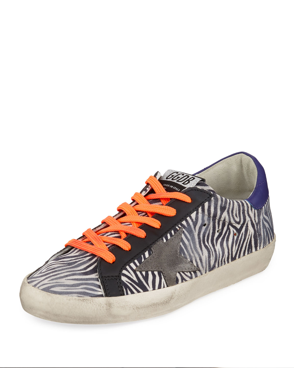 Golden Goose Superstar Zebra Low-Top Sneakers
