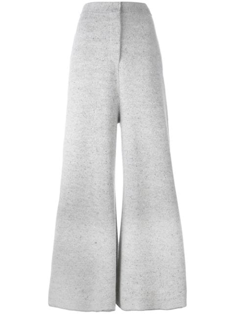 Stella Mccartney Wide Leg Flared Trousers In Grey