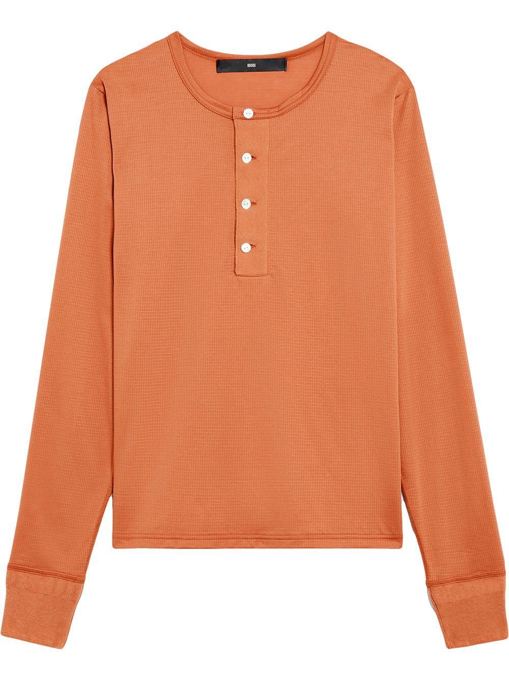 864eb04f2e9 Mackintosh 0003 Amber Cotton 0003 Henley Shirt - Neutrals | ModeSens