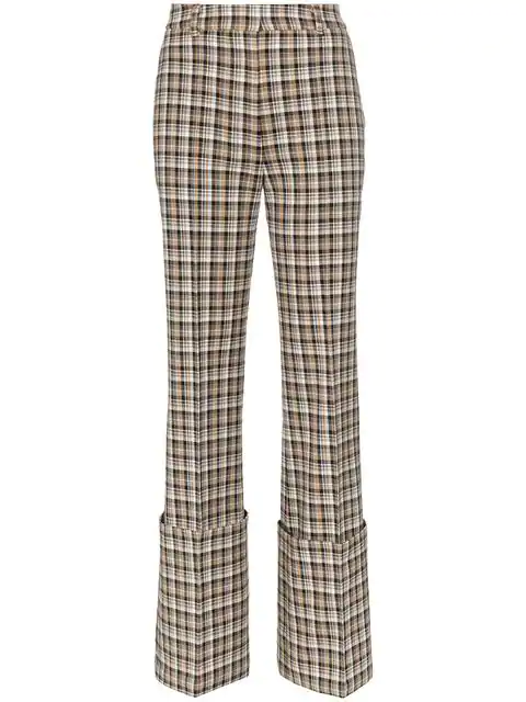Beaufille Moretti Turned Up Cuff Straight Leg Trousers In Neutrals
