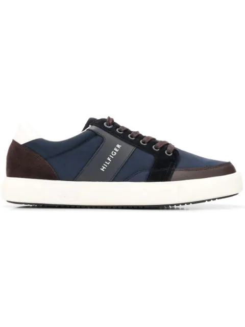 Tommy Hilfiger Colourblock Low Top Sneakers In Blue