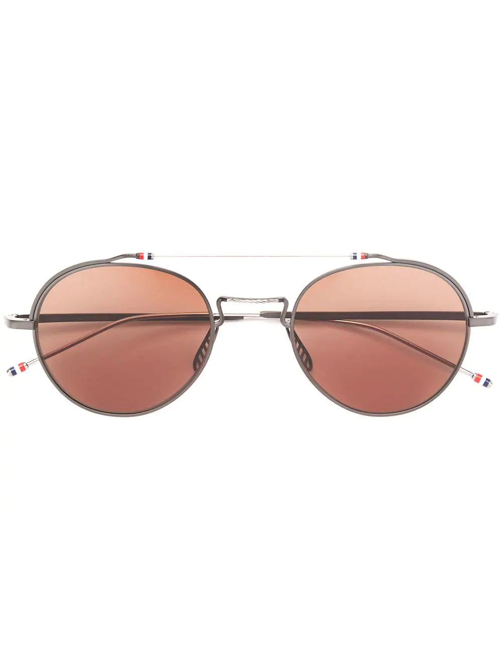 9656f1e47bdd Thom Browne Eyewear Black Iron   Silver Sunglasses
