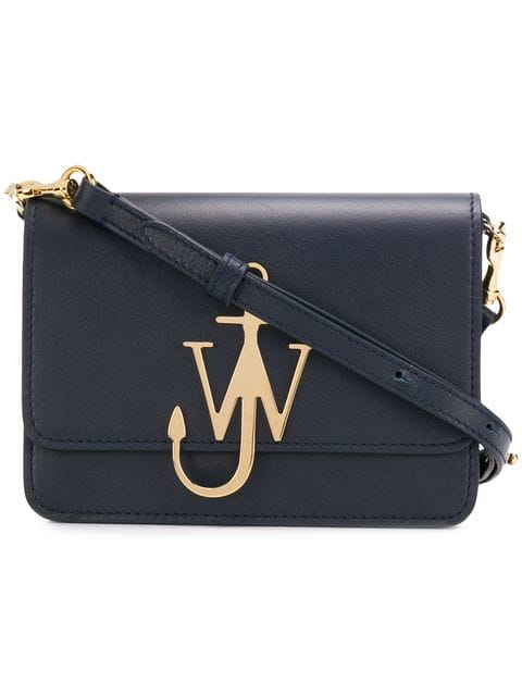 Jw Anderson Navy Anchor Logo Bag In Blue