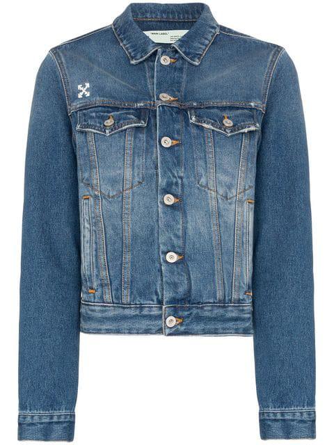 Off-White Off White Denim Jacket In Blue