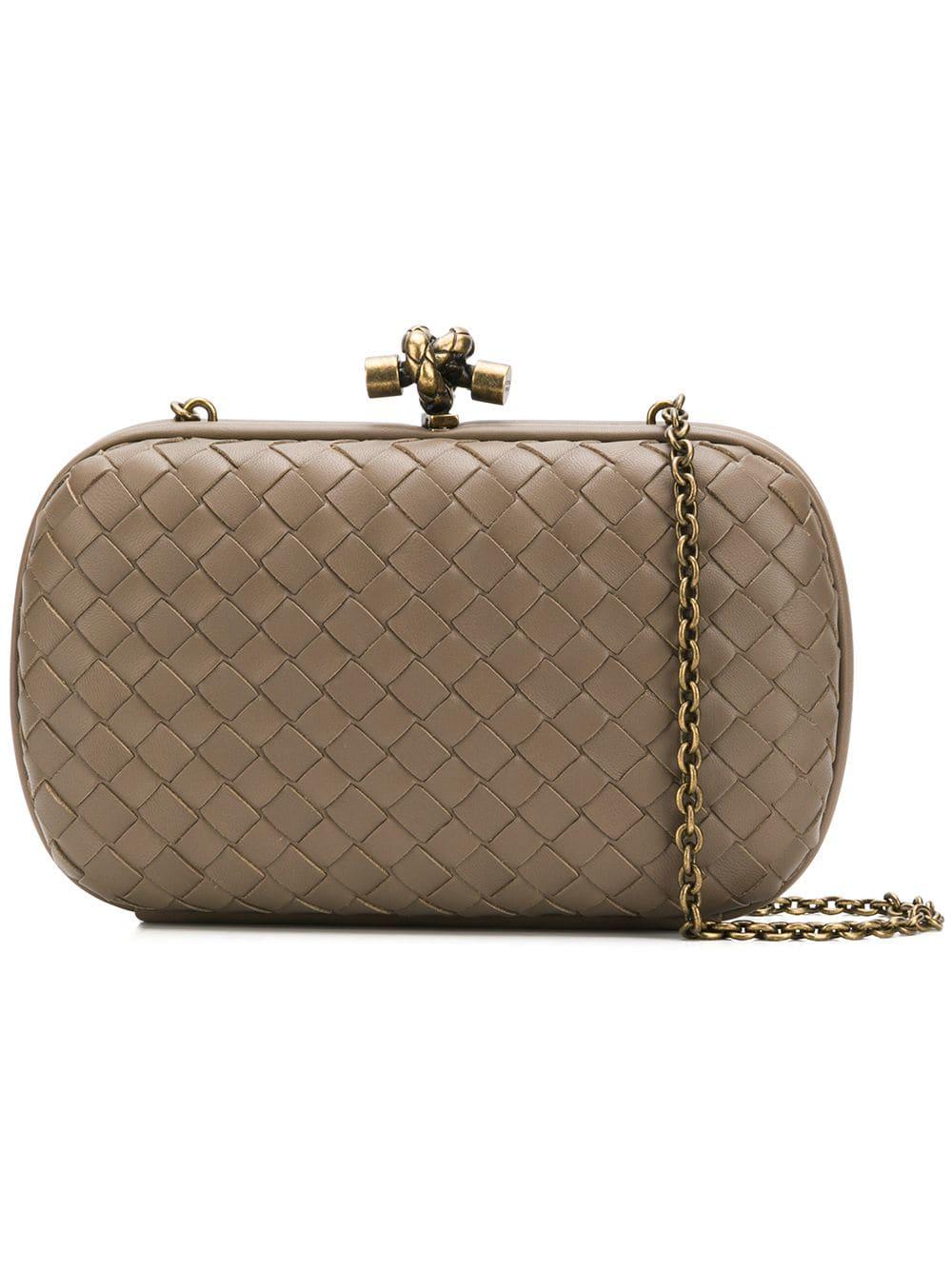 Bottega Veneta Knot Clutch Bag - Neutrals  ff0f75c96de3b