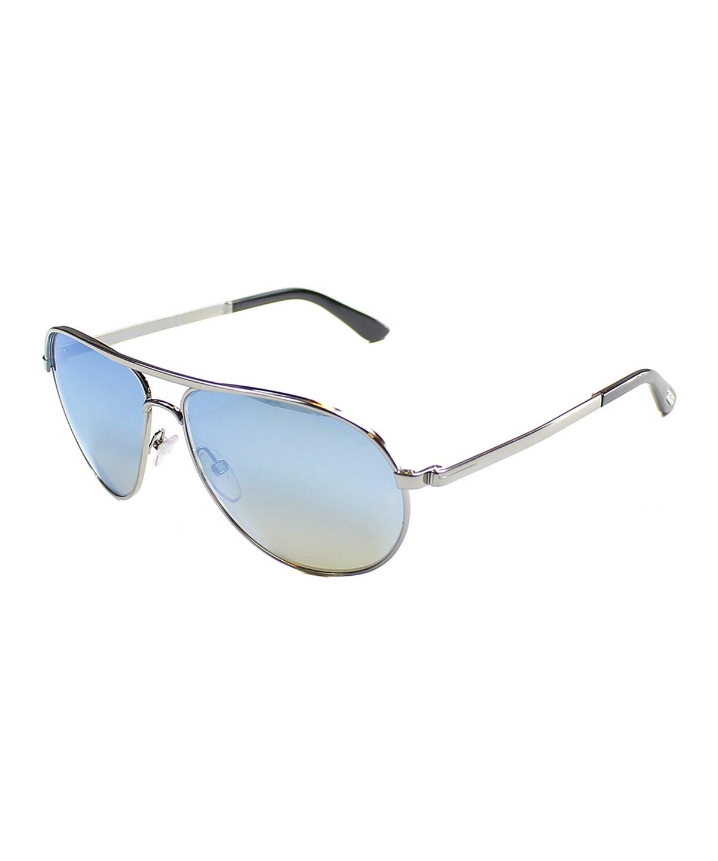 Tom Ford Marko Pilot Metal Sunglasses In Light Ruthenium Black