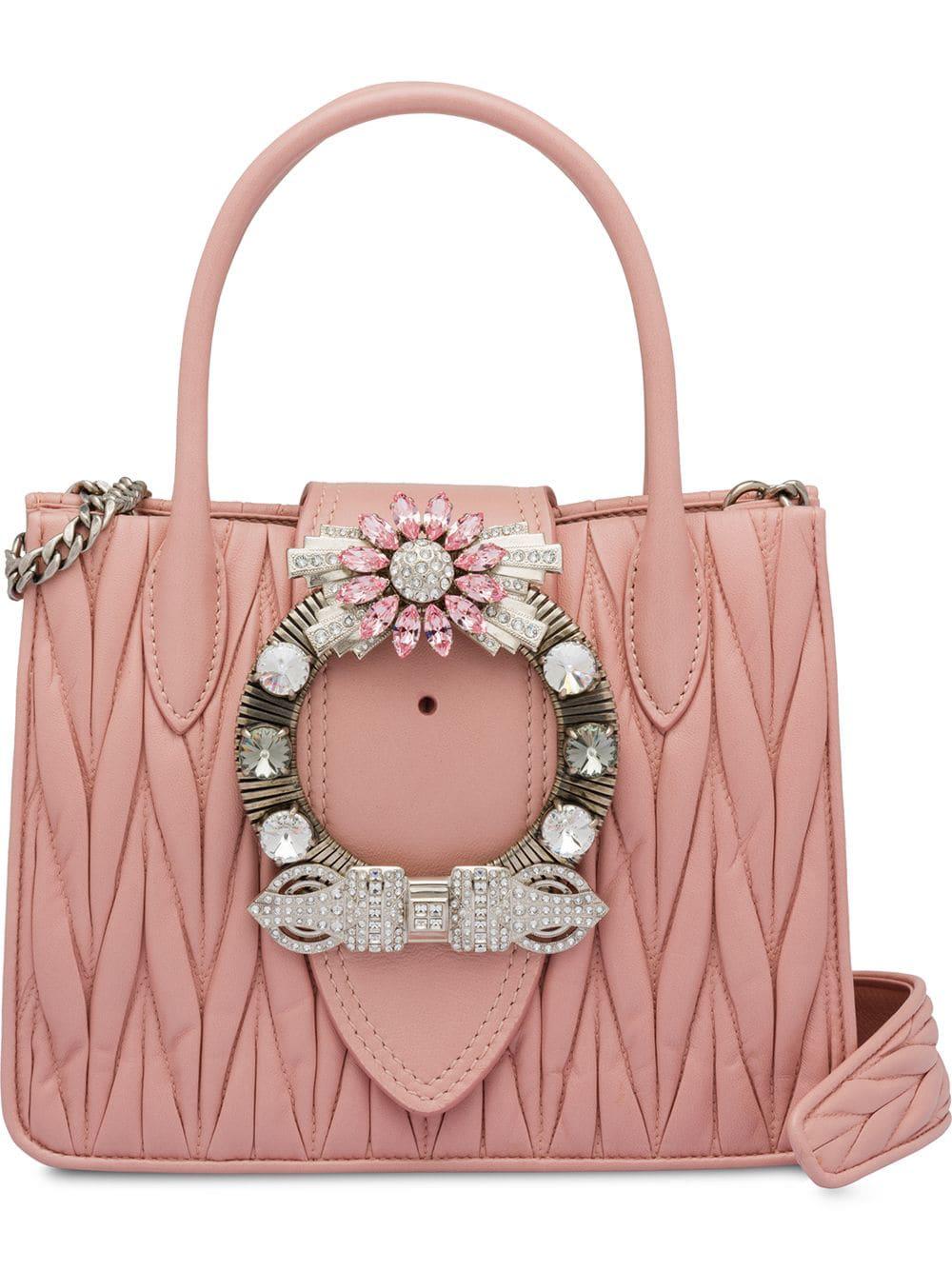4be3e49479 Miu Miu Miu Lady Matelassé Handbag - Pink