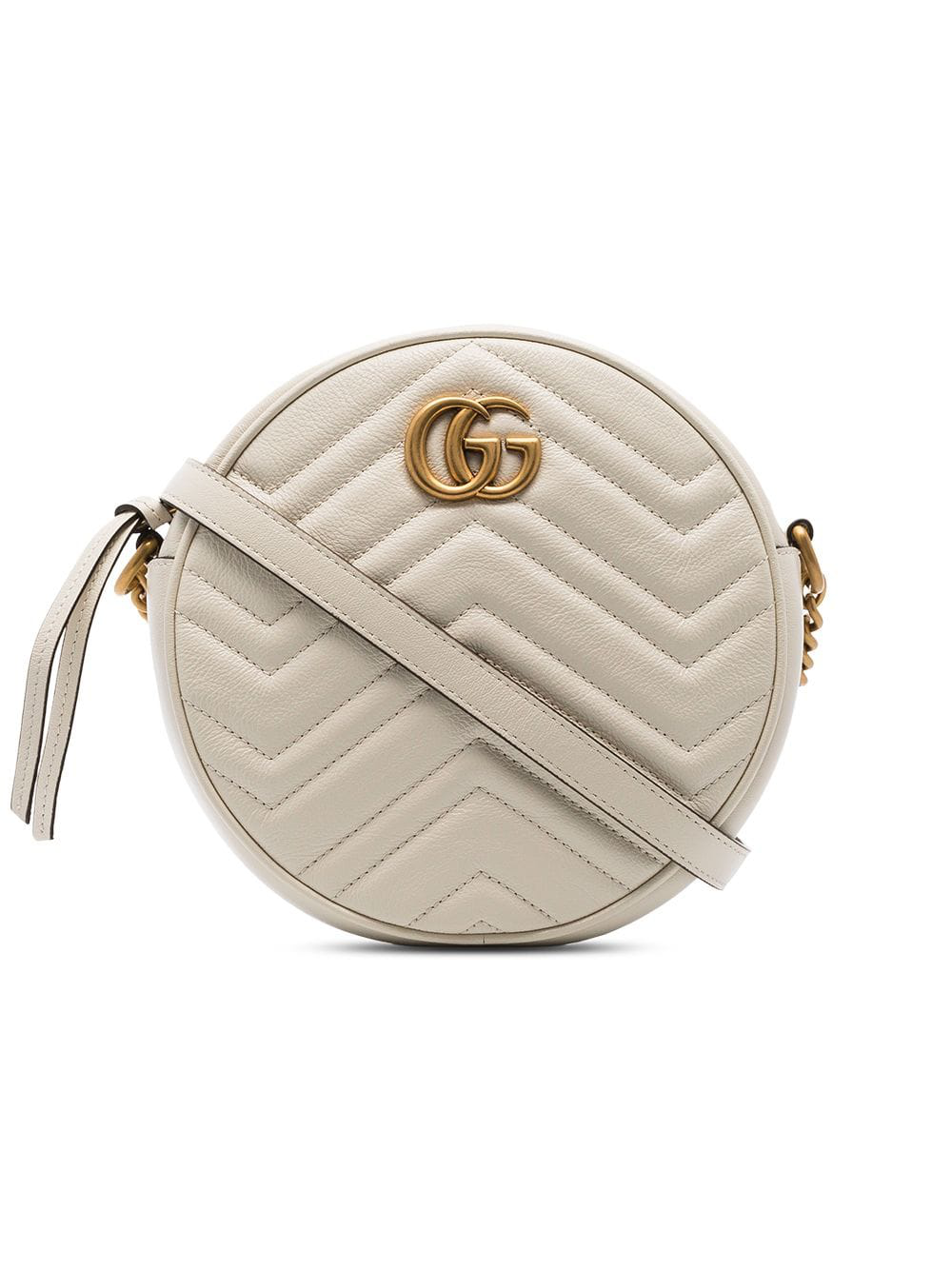 56b37ce31 Gucci White Marmont Quilted Leather Circle Cross Body Bag | ModeSens