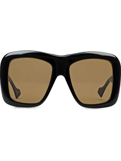 Gucci Oversize Square-Frame Sunglasses In 1121