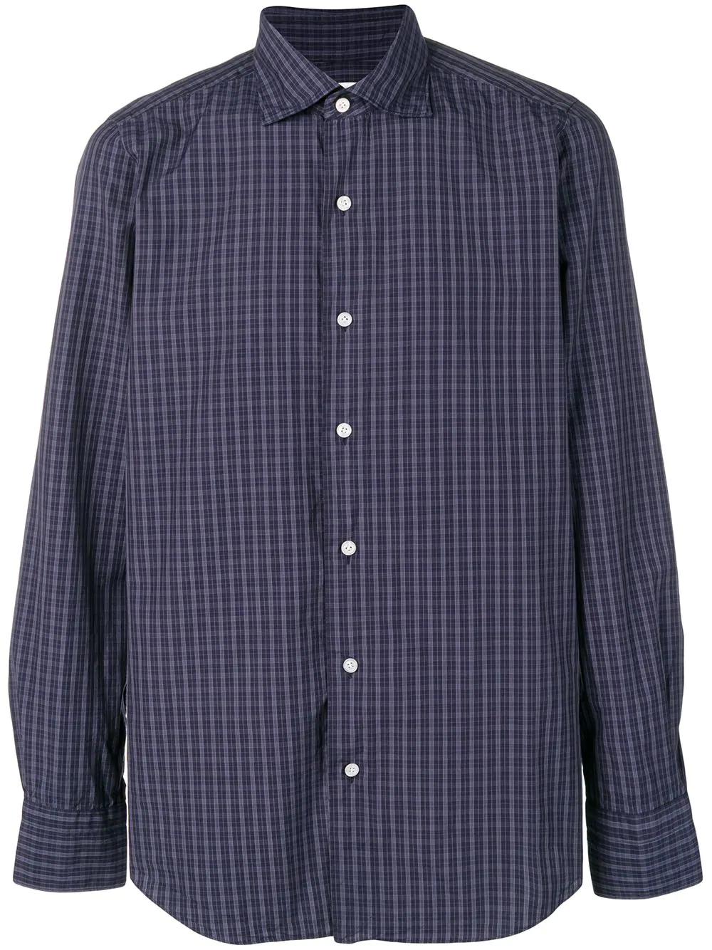 2d0599f1a95 Finamore 1925 Napoli Tokyo Checked Shirt - Blue. Farfetch