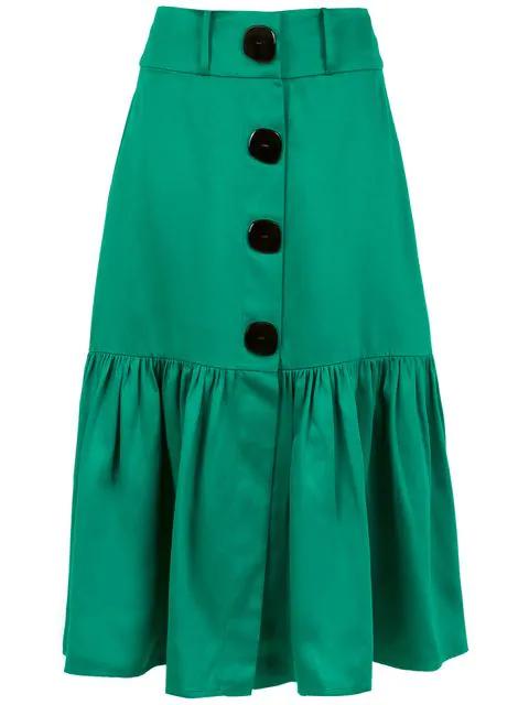 Adriana Degreas Midi Italia Skirt In Green