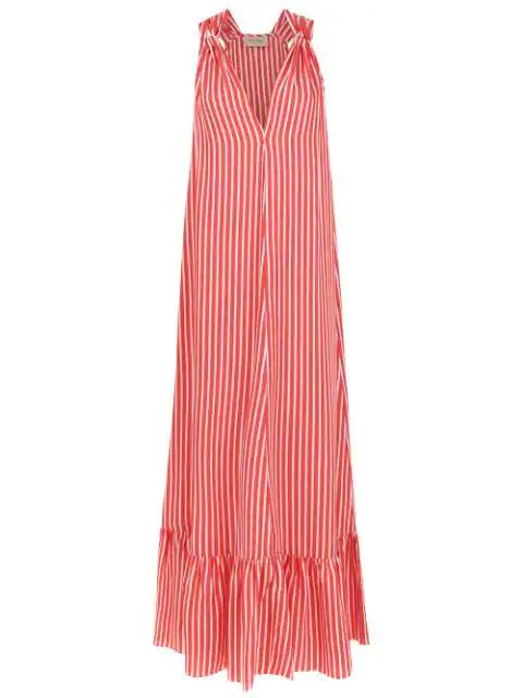 Adriana Degreas Italia Long Dress In Red