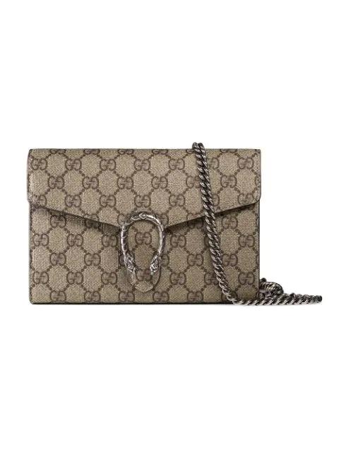 6217d88670 Dionysus Gg Supreme Mini Chain Bag in Neutrals