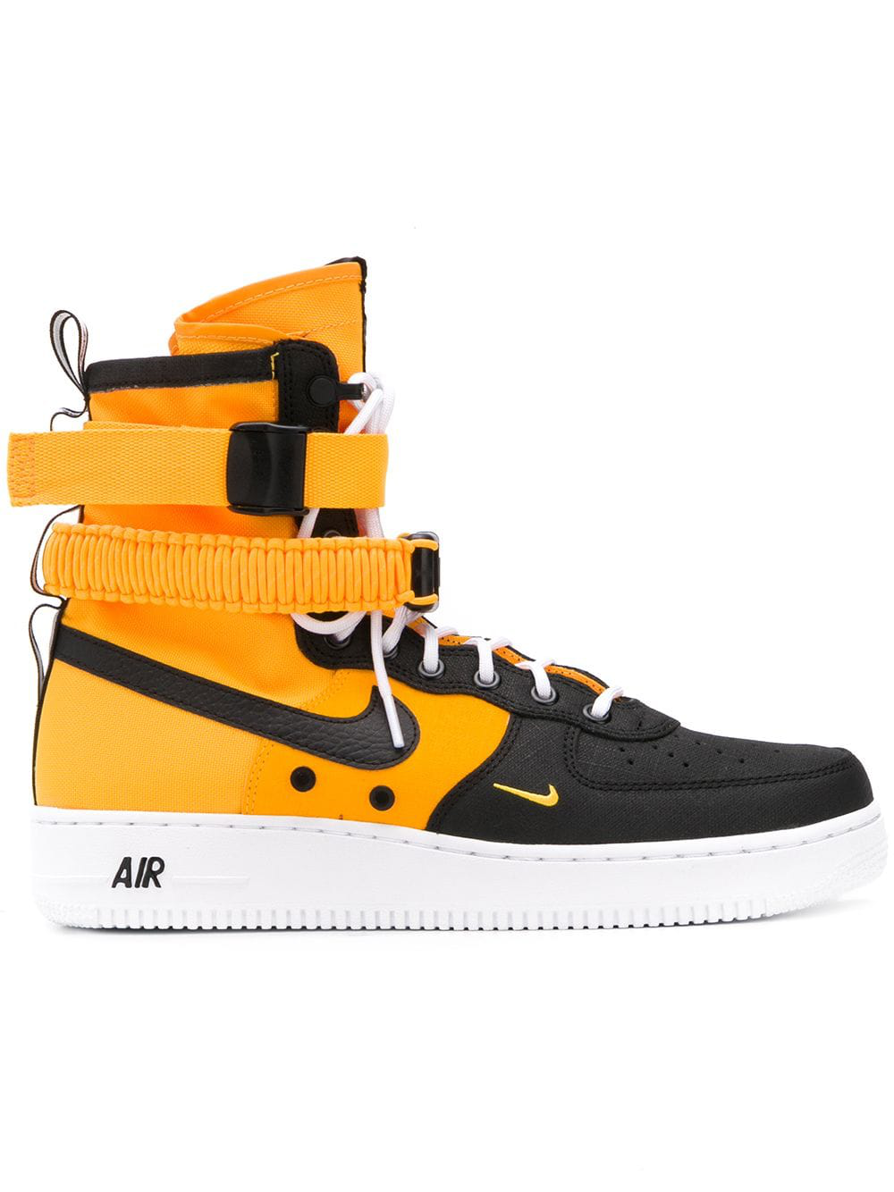 new styles 5dc32 e67bd Nike Sf Air Force 1 High Top Sneakers - Orange