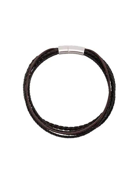 Tateossian Cobra Multi Strand Bracelet In Brown