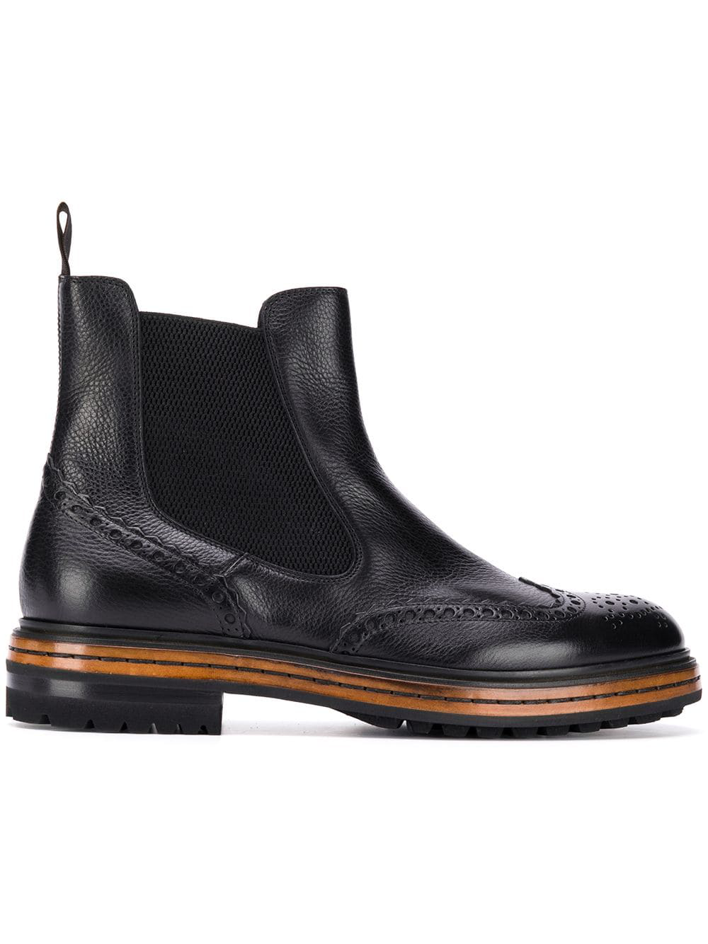 4e27bdd7313588 Santoni Derby Ankle Boots - Black