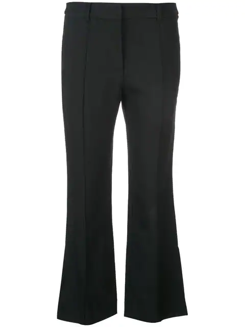 Khaite Side Slits Trousers In Black