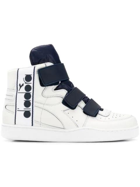 91890402 Diadora Basket Tape Hi-Top Sneakers - White