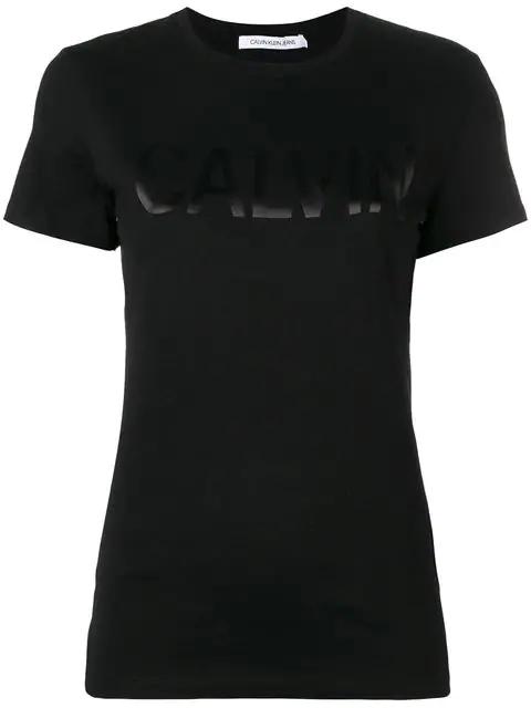 Calvin Klein Jeans Est.1978 Logo Print T In Black
