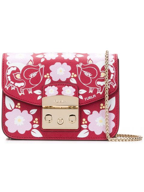Furla Metropolis Crossbody Bag In Red