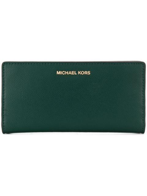 Michael Michael Kors Saffiano Slim Wallet - Green