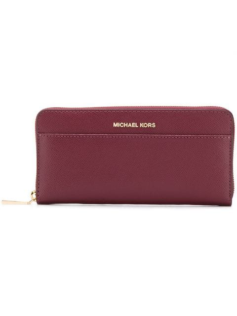 Michael Michael Kors Classic Continental Wallet In Red
