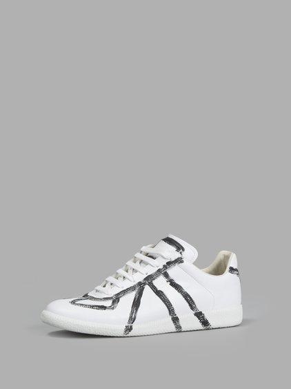 1608f91af03 Men's Replica Finger-Paint Low-Top Sneaker, White/Black