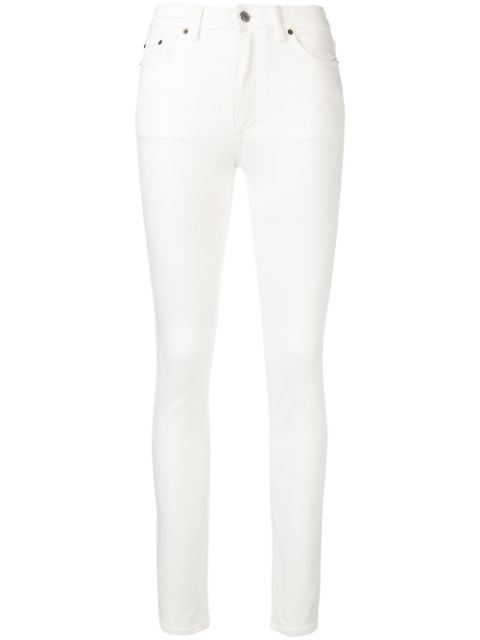 Acne Studios Cotton Stretch Skinny Fit Jeans In White