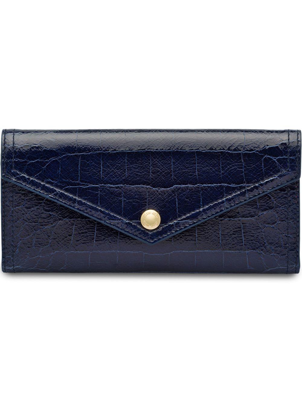 9ff21e9fe1ca Miu Miu Cocco Lux Wallet - Blue | ModeSens