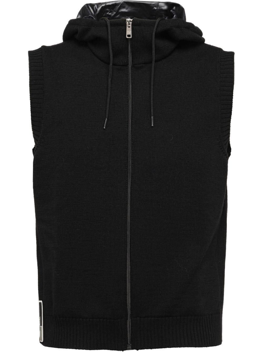 adaa75d077 Prada Wool And Nylon Vest - Black