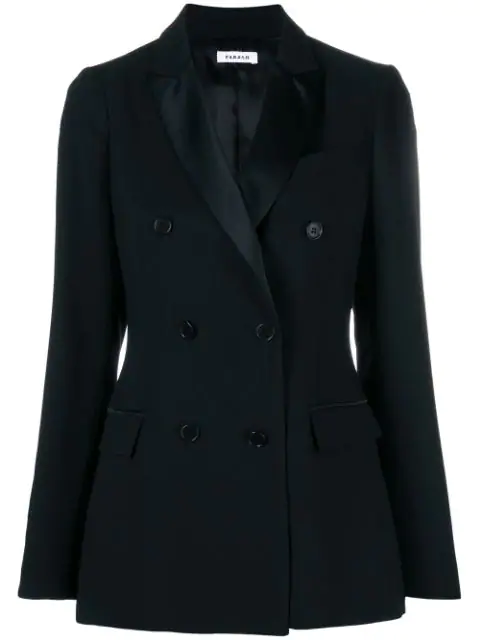 P.a.r.o.s.h. Double Breasted Blazer In Black