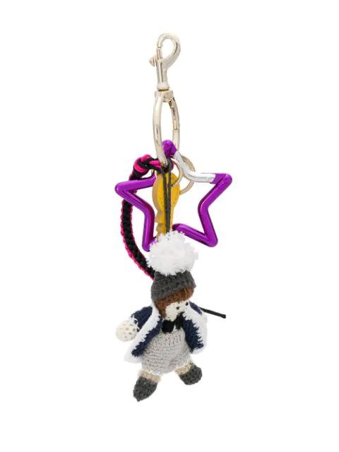 Dolce & Gabbana Winter Star Keychain In Metallic