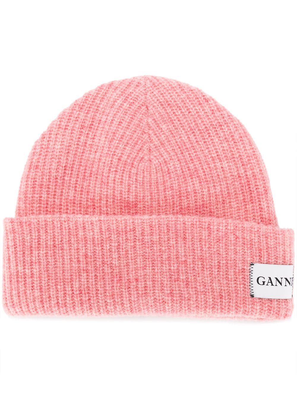 a84aa76743f8d Ganni - Hatley Ribbed Wool Blend Beanie Hat - Womens - White