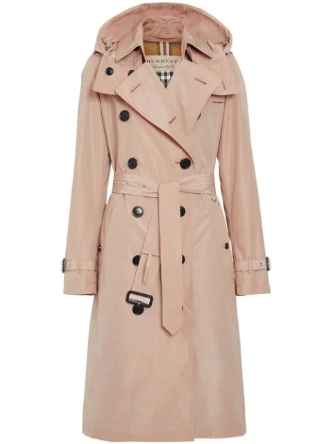 info for f9b63 3fa42 Burberry 'Taffeta' Trenchcoat Mit Kapuze - Rosa in Pink