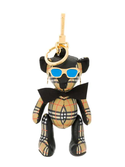 Burberry Thomas Bear Charm In Sunglasses In Black