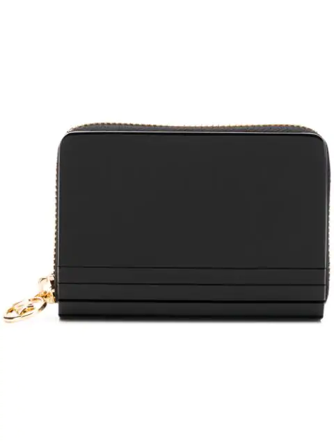 Michael Michael Kors Glittered Wallet In Black