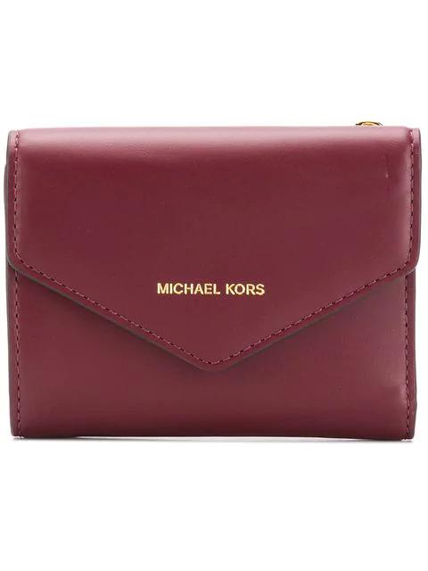 Michael Michael Kors Envelope Wallet In Red