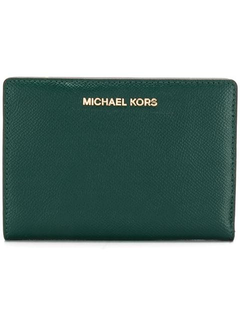 Michael Michael Kors Jet Set Slim Wallet In Green