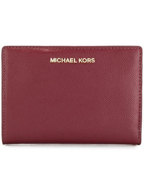 Michael Michael Kors Jet Set Slim Wallet In Red