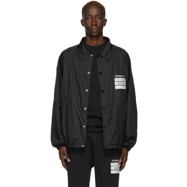 Maison Margiela Martin Margiela Martin Margiela Stereotype Patch Coach Jacket In 900 Black
