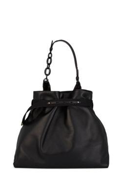Lanvin Leather Hobo Bag - Black