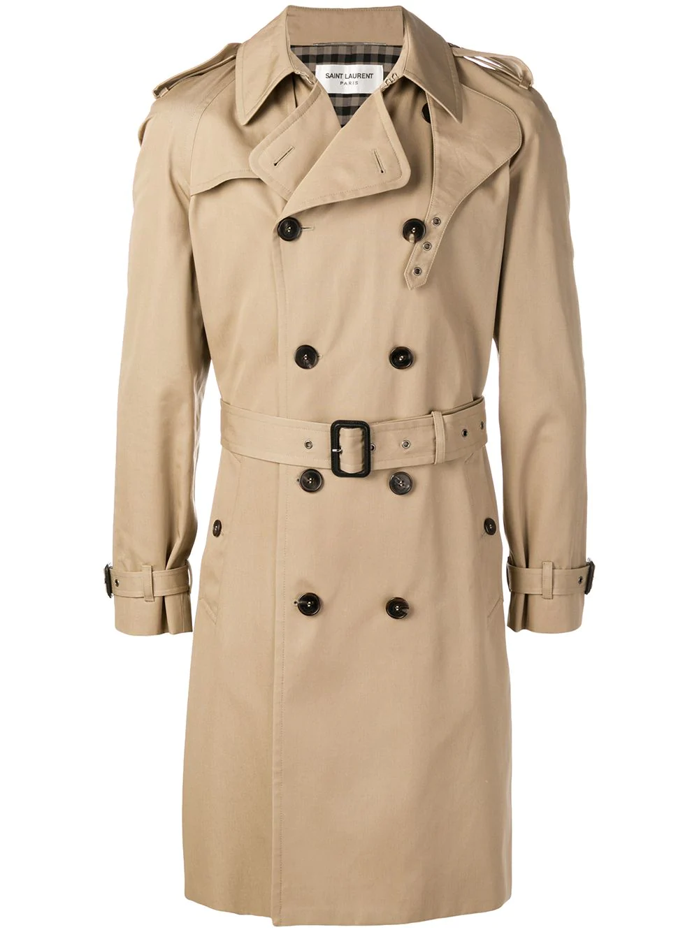 b2cacccf8eb Saint Laurent Belted Trench Coat - Brown In 9772 Beige