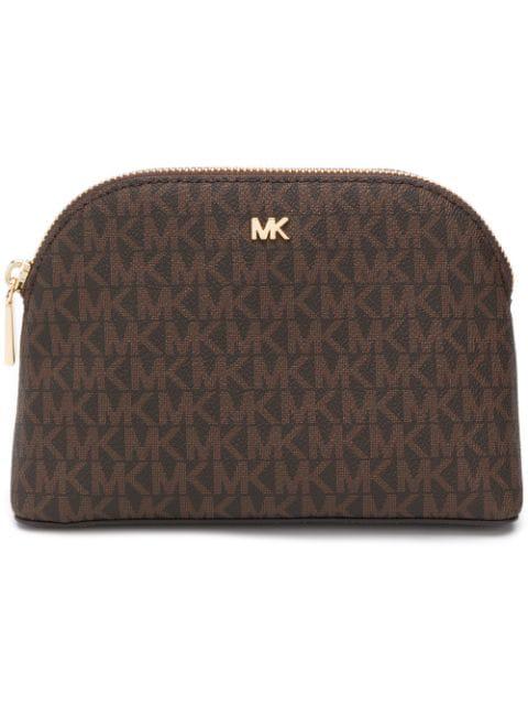 Michael Michael Kors Makeup Bag Trio In Brown