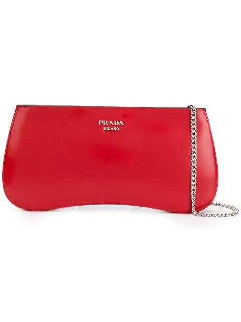 Prada Sidonie Crossbody Bag In Red