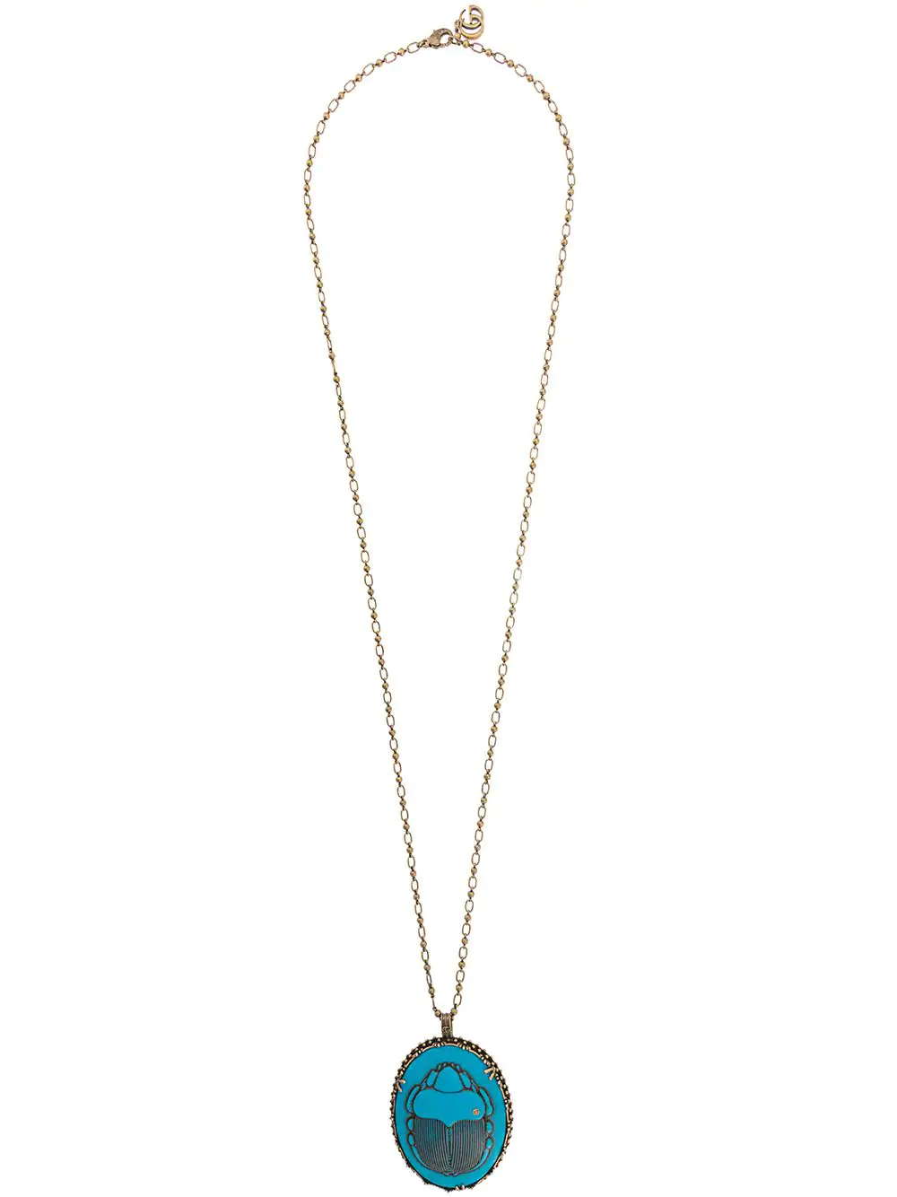 4173a98a2bf Gucci Beetle Necklace - Blue