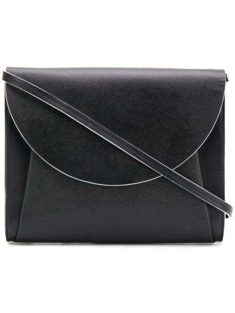 Marni Flap Clutch Bag In Black