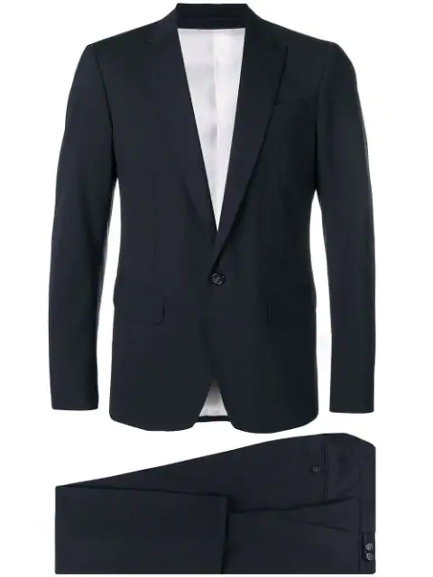 Dsquared2 Two Piece Formal Suit In Blue