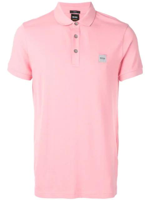 Hugo Boss Classic Polo Shirt In Pink