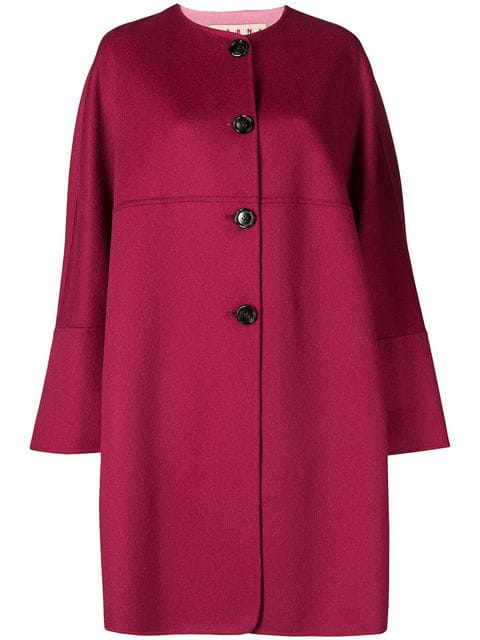 Marni Reversible Wool And Cashmere-blend Coat In Pink